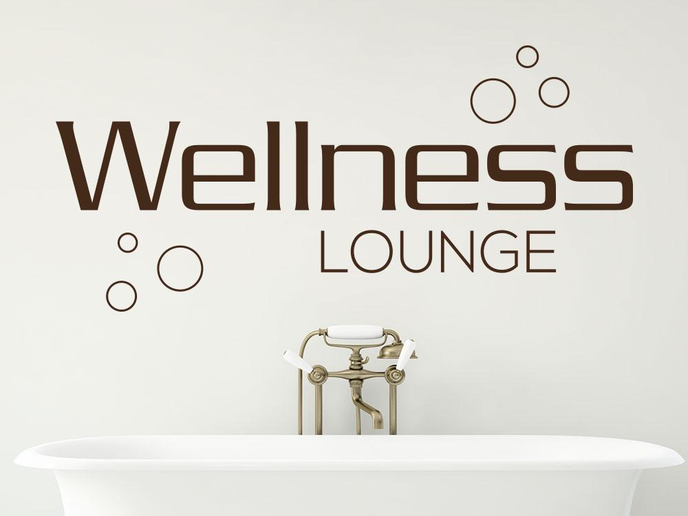 Wandtattoo Wellness Lounge mit Seifenblasen