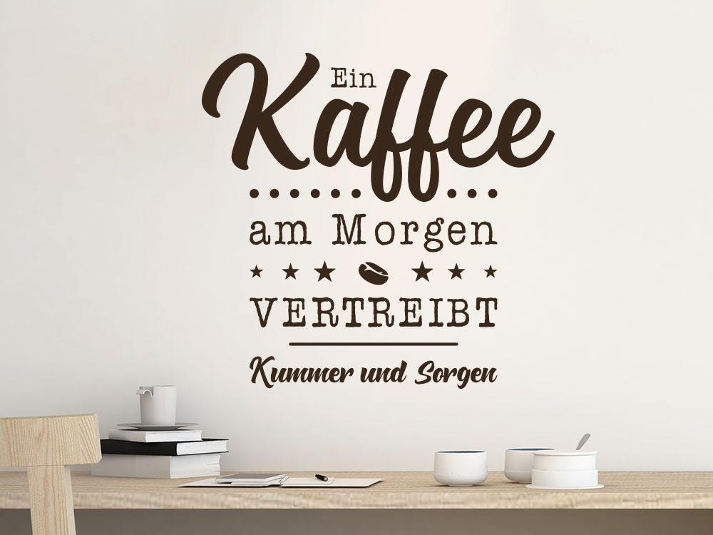 Wandtattoo Ein Kaffee am Morgen im Büro