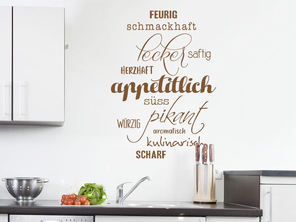 Kulinarischen Küchen Wandtattoo Appetitlich