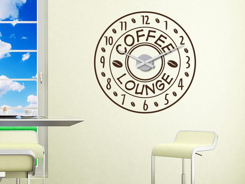 Wandtattoo Uhr Coffee Lounge - Einzelansicht des Wandtattoos