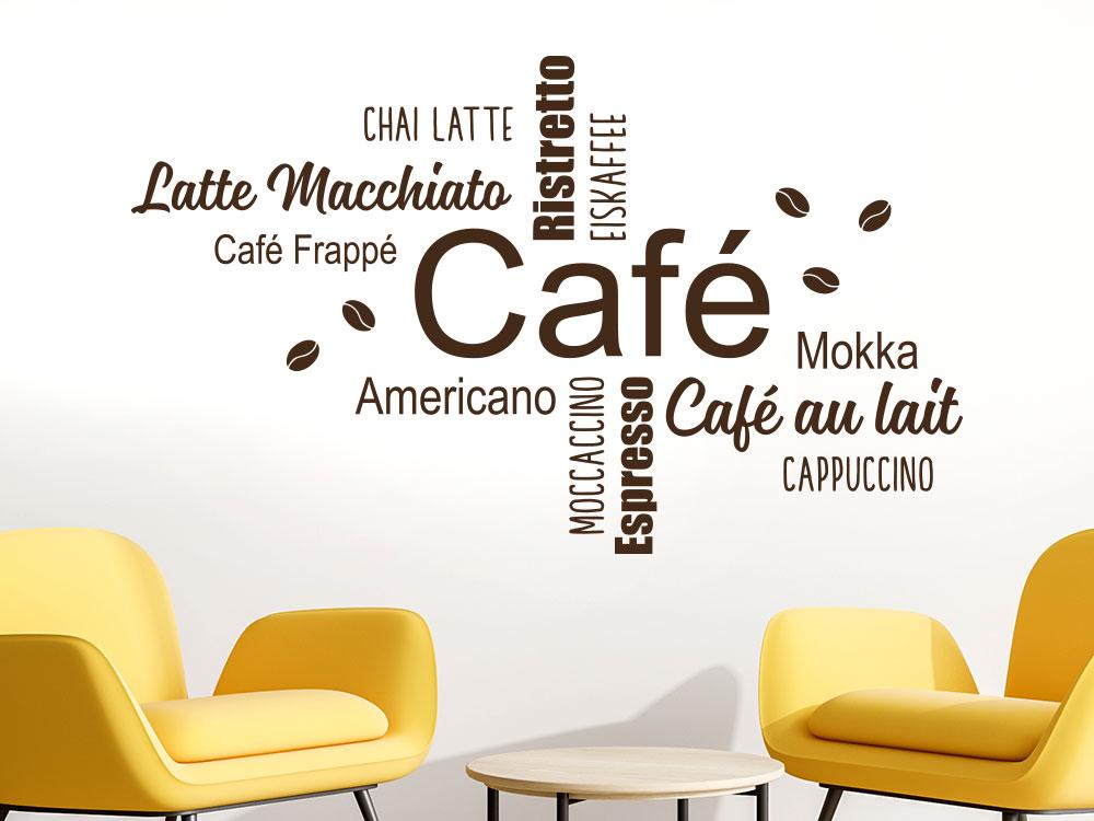 Wandtattoo Café Passion