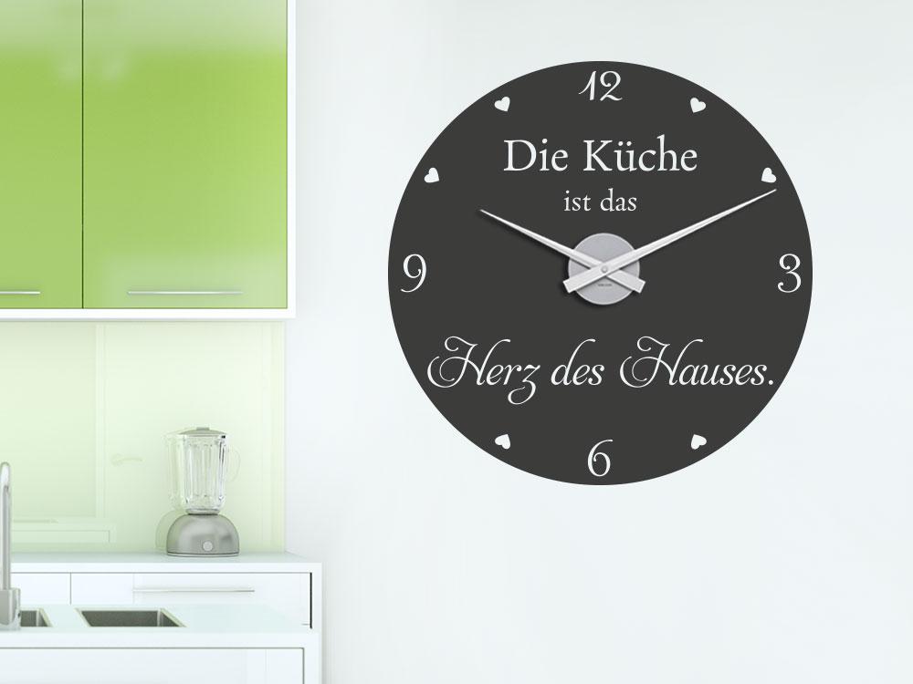 Wandtattoo Uhr Die Küche ist das Herz des Hauses