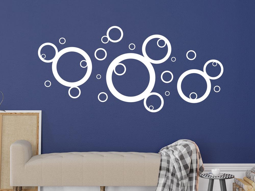 Wandtattoo Kreise in der Farbe Weiß
