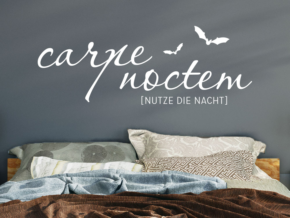 carpe noctem wandtattoo von klebeheld de. Black Bedroom Furniture Sets. Home Design Ideas