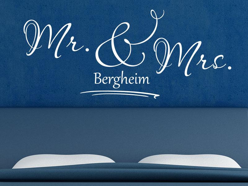 Wandtattoo Mr. und Mrs. Wunschname
