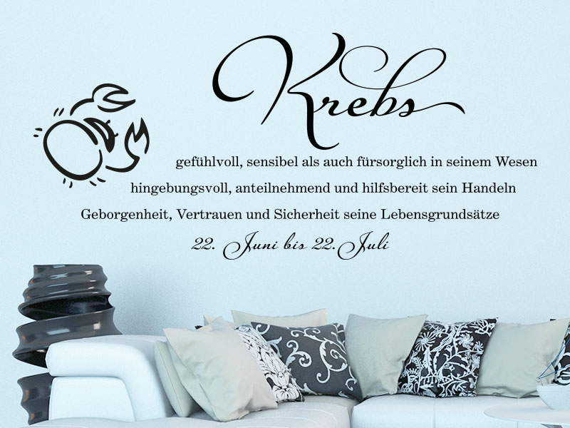 wandtattoo sternzeichen krebs sternzeichen als wandtattoo. Black Bedroom Furniture Sets. Home Design Ideas