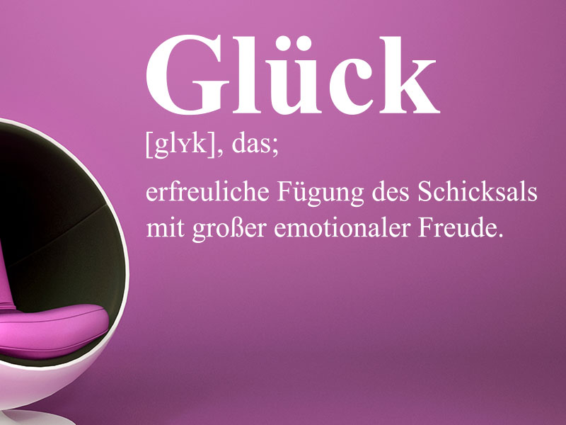 Wandtattoo Definition Glück