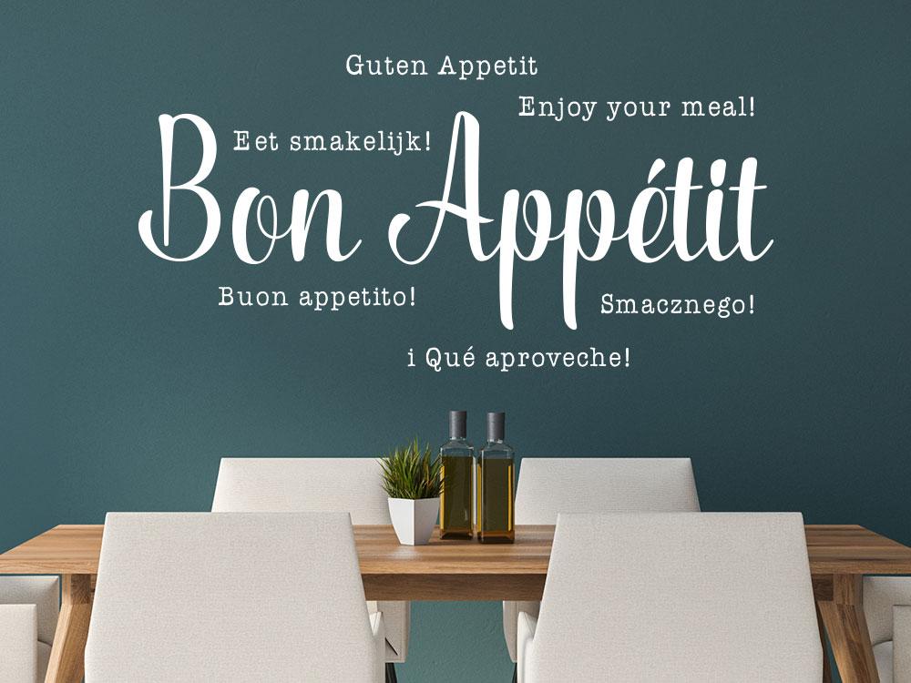 Wandtattoo Bon Appétit mehrsprachig