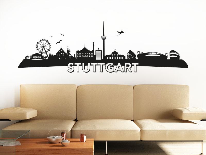 Wandtattoo Skyline Stuttgart