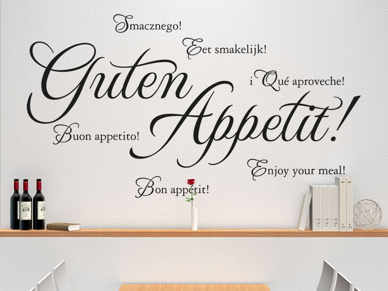 Wandtattoo Guten Appetit Sprachen