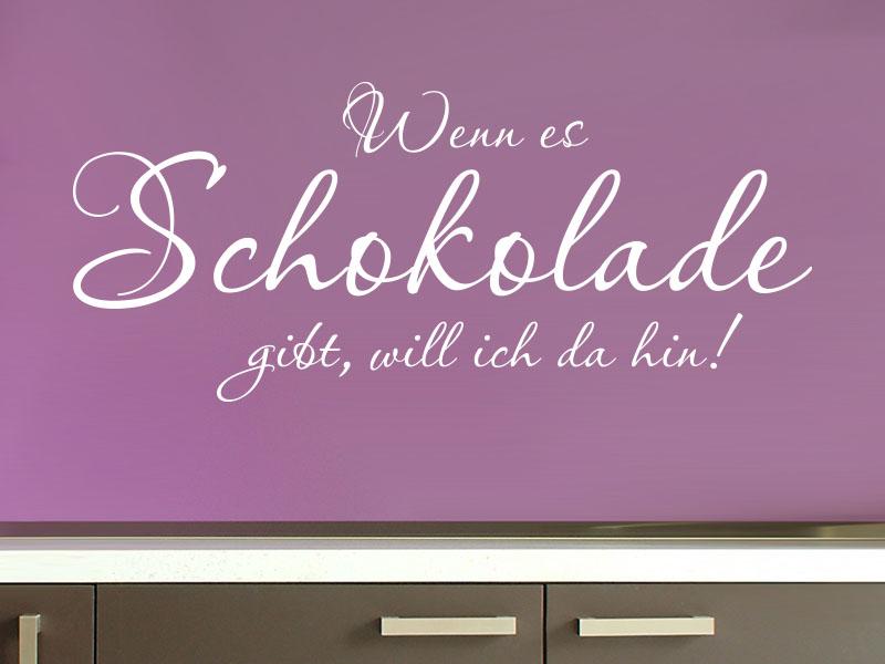 Wandtattooo Spruch Schokolade in Küche