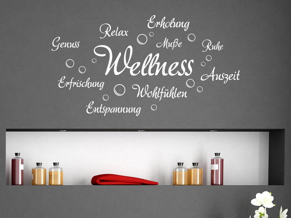Wandtattoo Wellness und Erholung Badezimmer