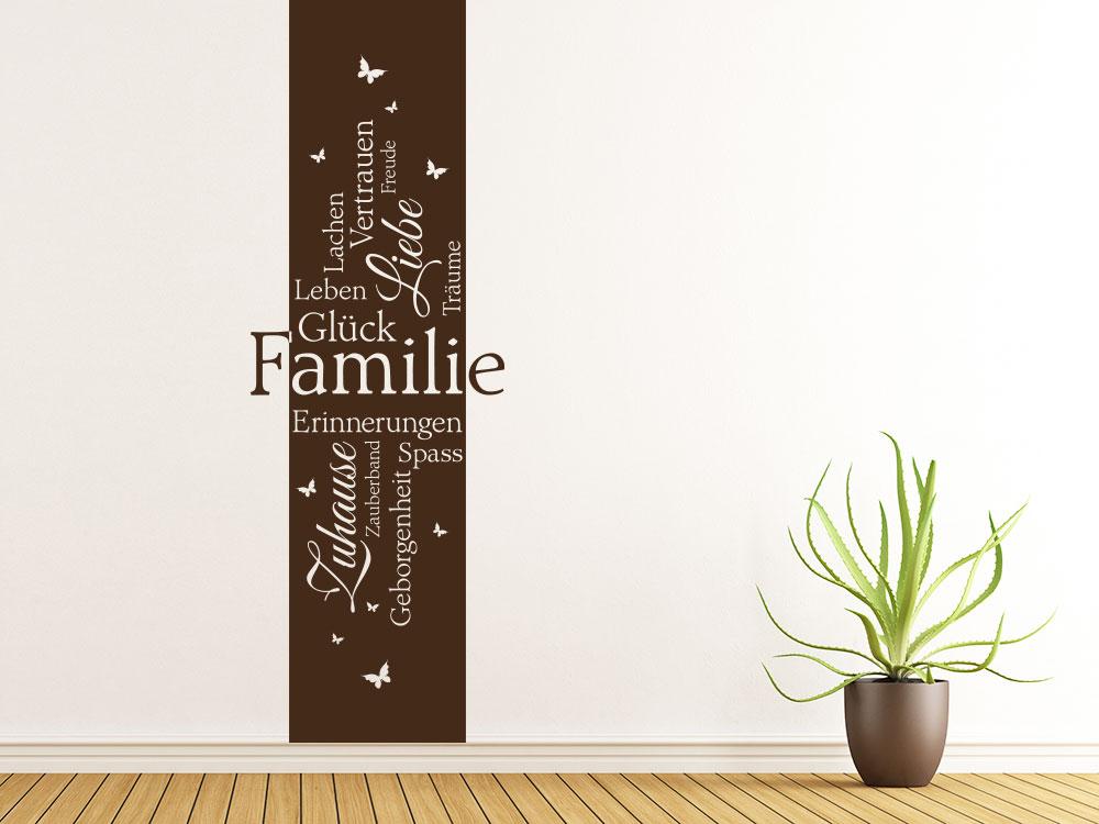 Wandtattoo Familie Banner