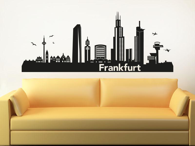 Wandtattoo Frankfurt Skyline