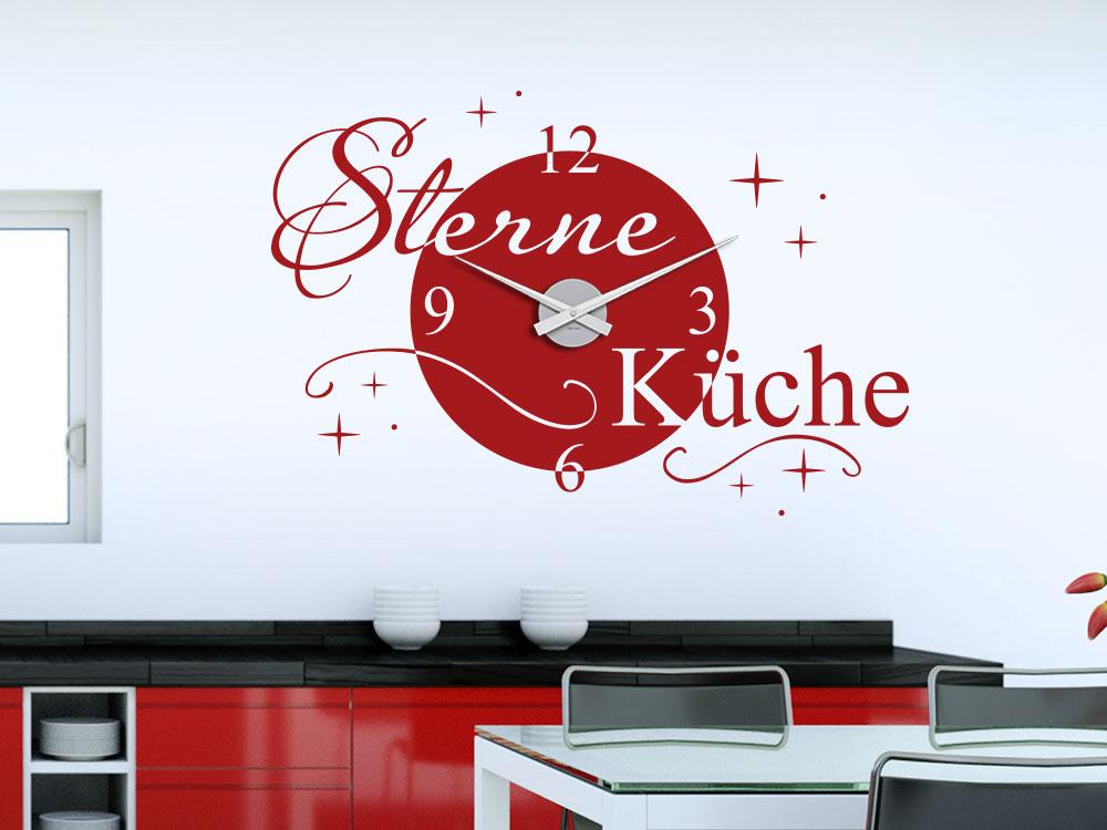 Wandtattoo Uhr Sterne Küche von KLEBEHELD®.DE
