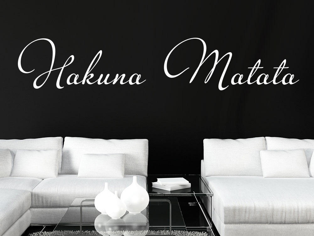 wandtattoo schriftzug hakuna matata klebeheld. Black Bedroom Furniture Sets. Home Design Ideas