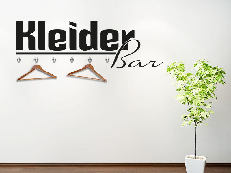 Garderobe Kleiderbar als modernes Wandtattoo