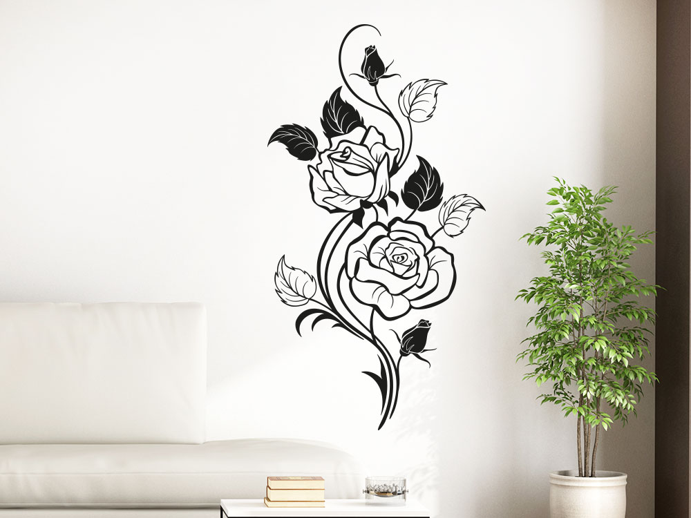 Wandtattoo Rosen Ornament