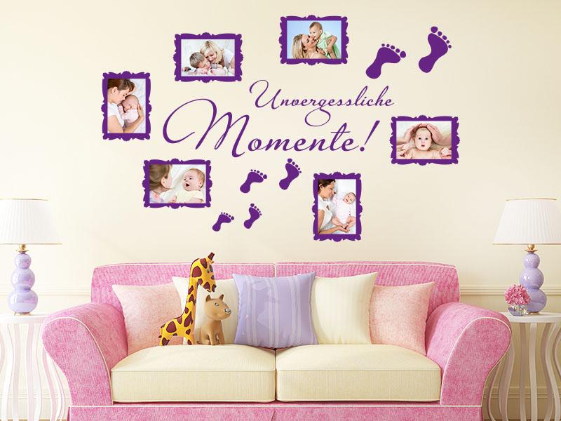 Wandtattoo Fotorahmen fürs Babyzimmer - unvergessliche Momente