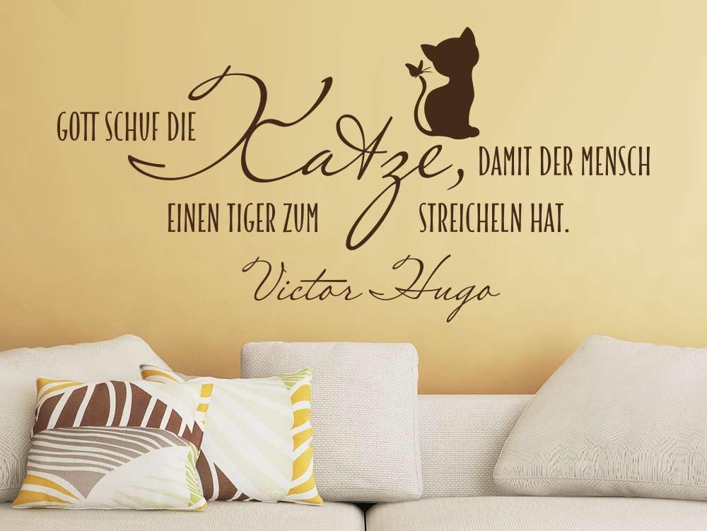 Wandtattoo Spruch über Katzen  Einen Tiger zum streicheln