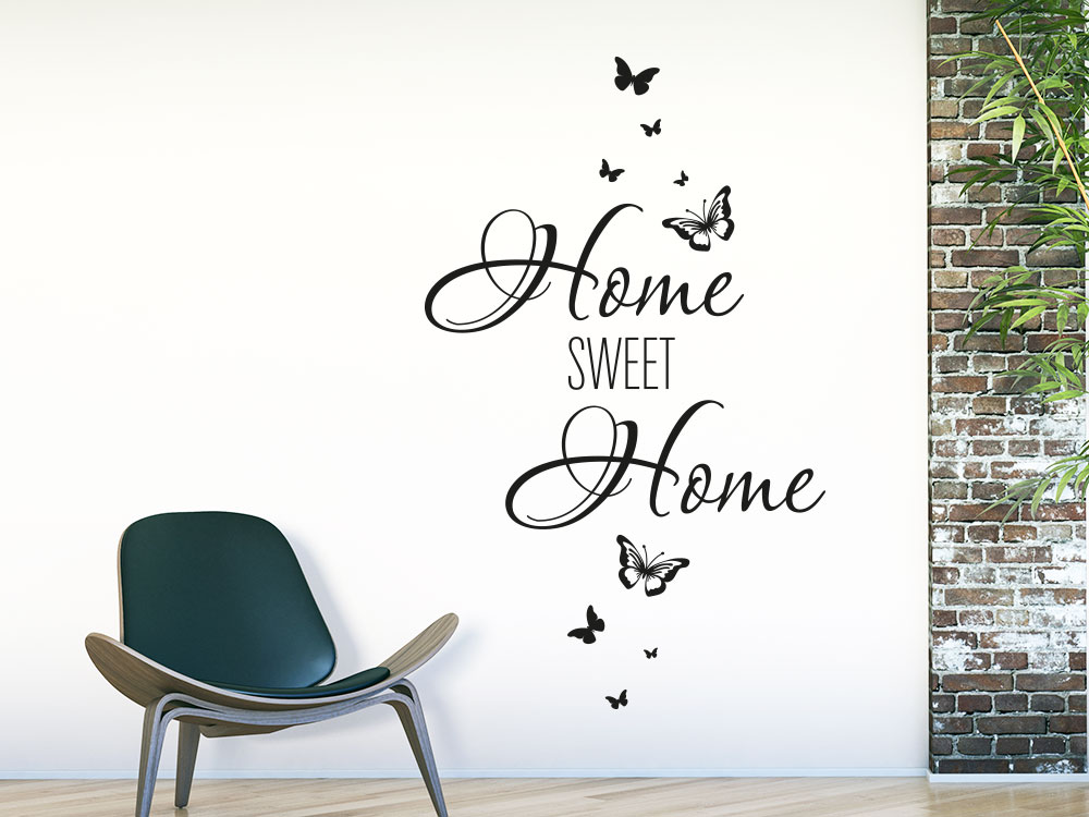 Wandtattoo Home sweet Schmetterlinge