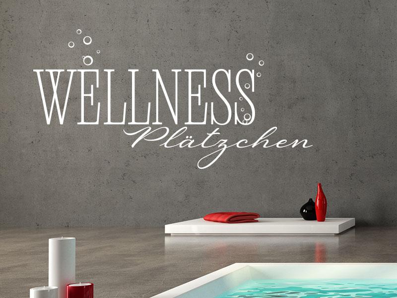 Wandtattoo Wellness Plätzchen