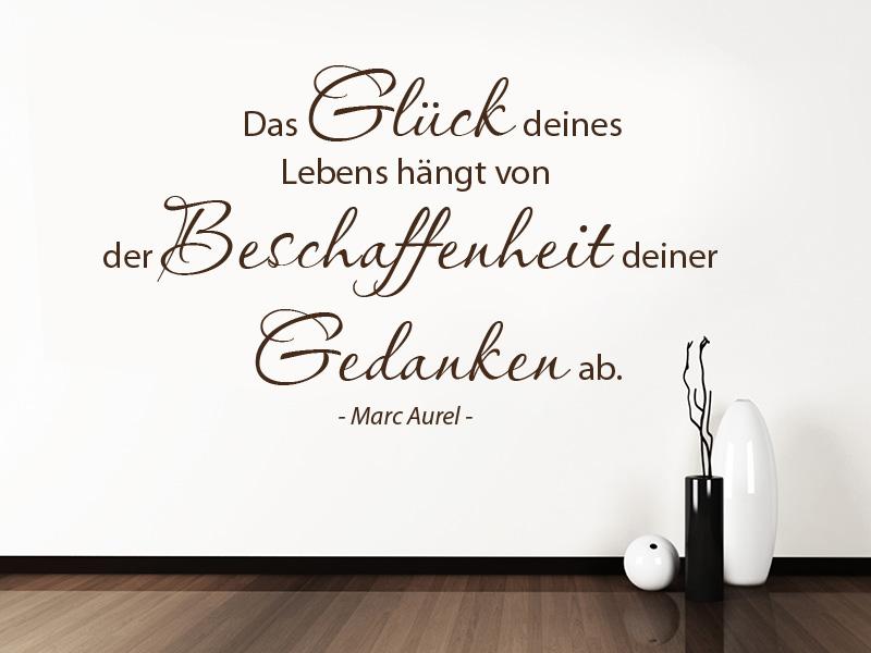Wandtattoo Zitat Marc Aurel Das Glück deines Lebens