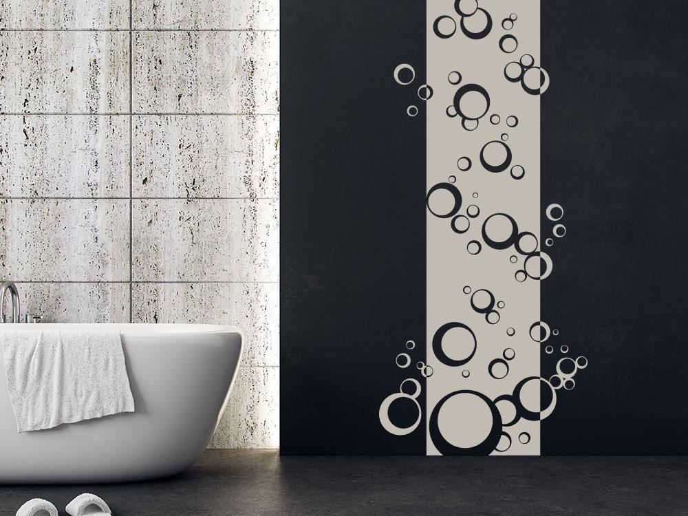 Wandtattoo Seifenblasen Wandbanner im Badezimmer