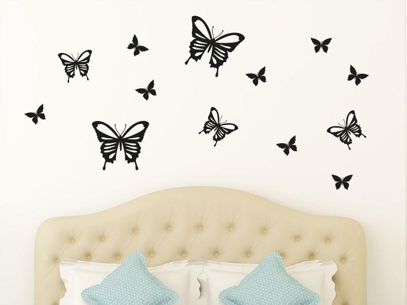 wandtattoo schmetterling set. Black Bedroom Furniture Sets. Home Design Ideas