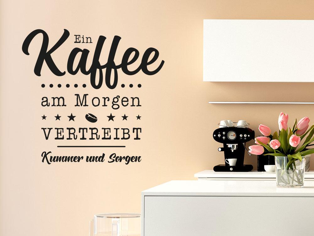 Wandtattoo Ein Kaffee am Morgen