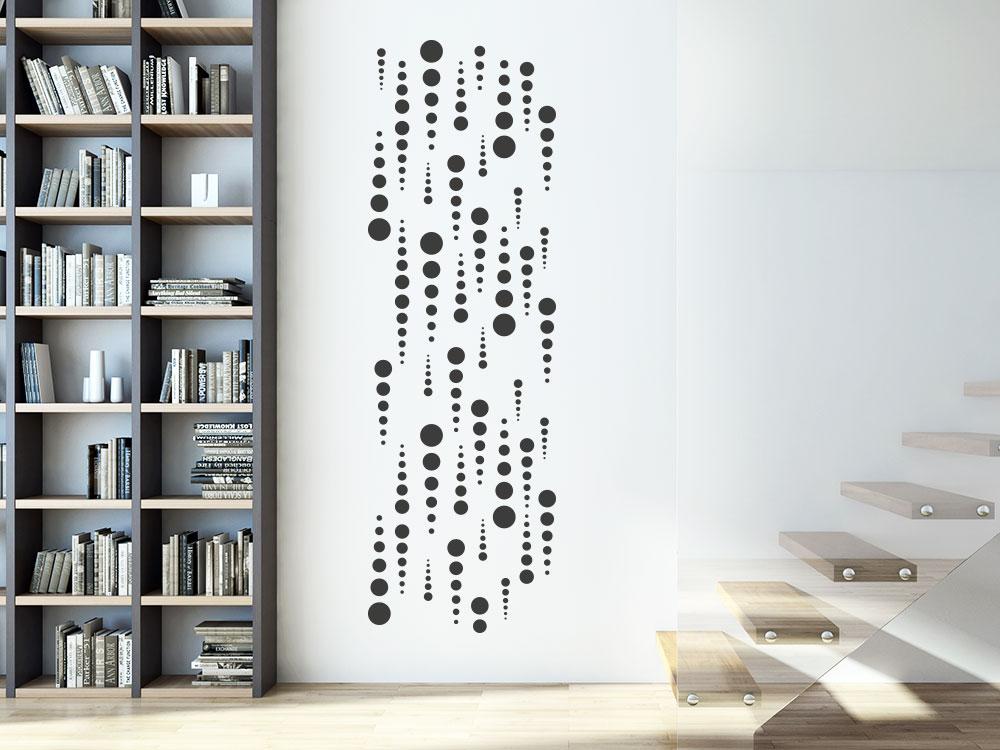 Wandtattoo Wandbanner kreative Punkte im Flur