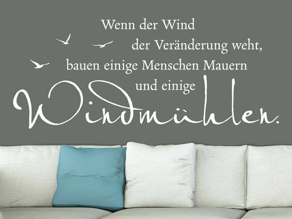 Wandtattoo Weisheit Windmühlen