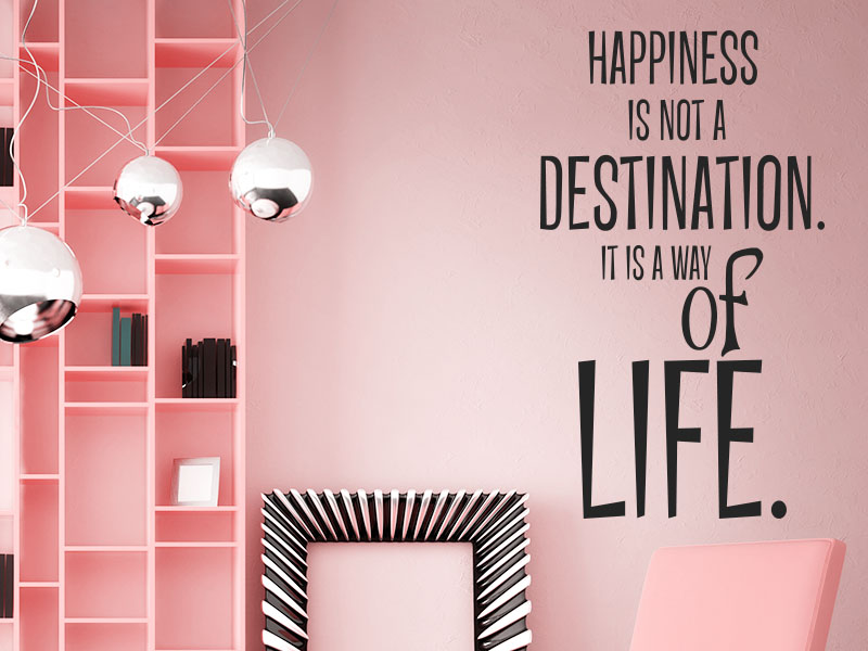 Wandtattoo Spruch englisch - Happiness is not a destination. It´s a way of life.