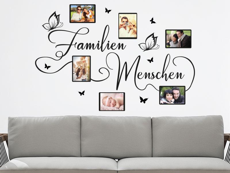 wandtattoo familienmenschen fotorahmen von klebeheld de. Black Bedroom Furniture Sets. Home Design Ideas