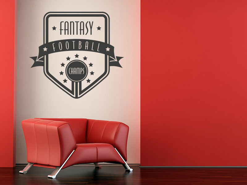 Wandtattoo Button Fantasy Football Champs