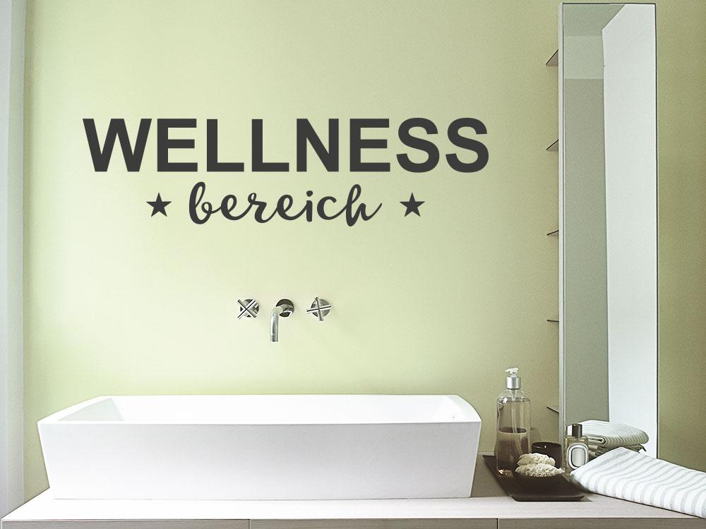 Wandtattoo Wellnessbereich über Waschbecken