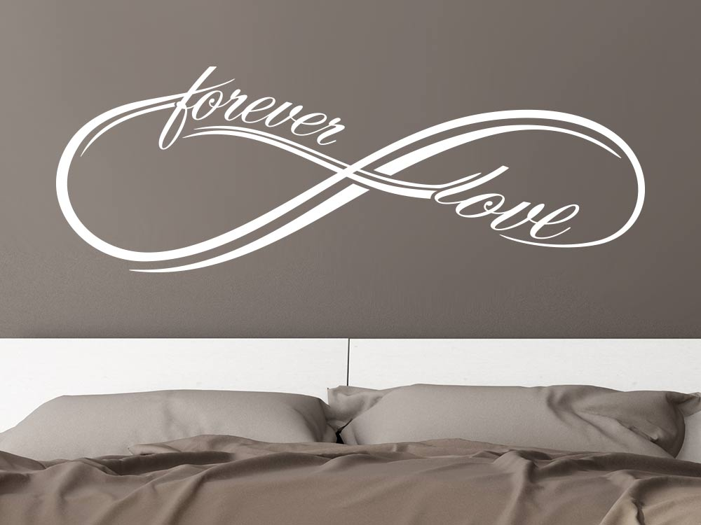 Wandtattoo Infinity forever love Schlafzimmer