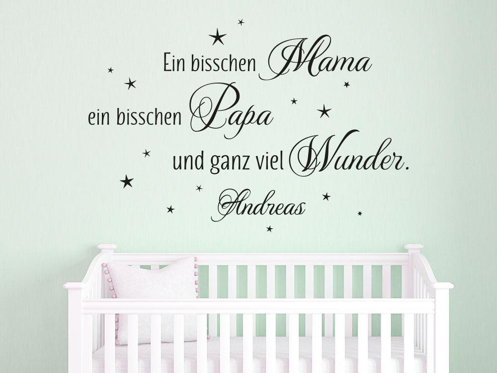 Wandtattoo mit Name Ein bisschen Mama… für Jungs