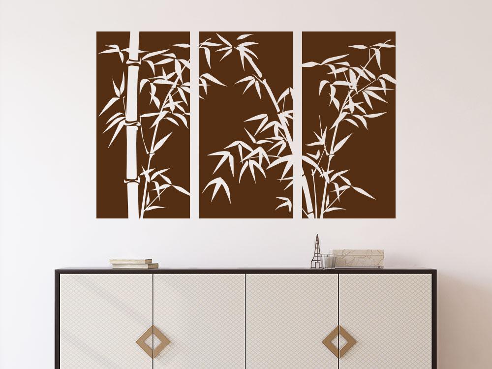 Banner Wandtattoo Bambus  im Flur