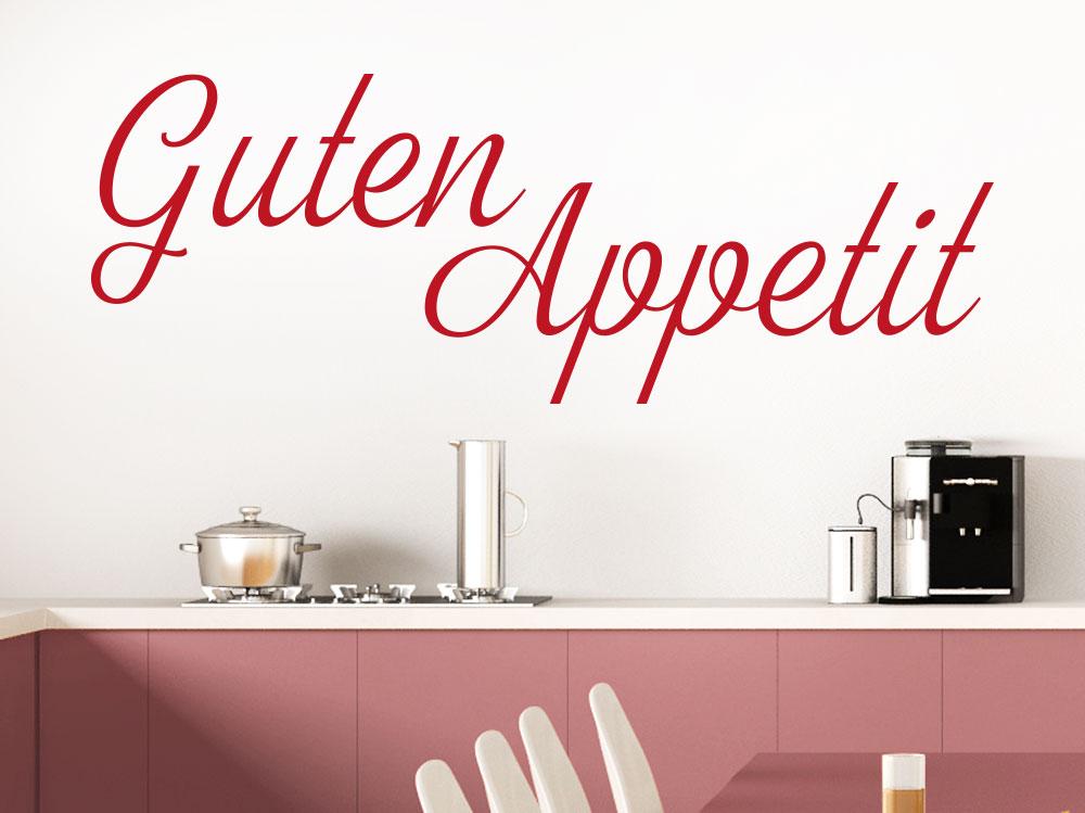 Wandtattoo Guten Appetit Schriftzug