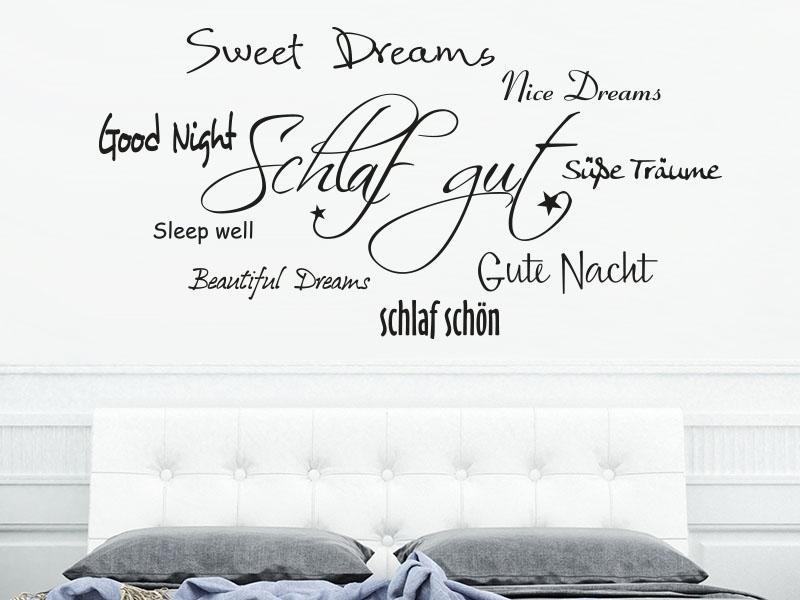 Wandtattoo Schlaf gut