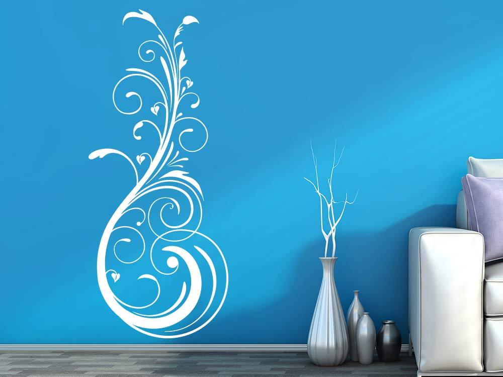 Wandtattoo Stilvolles Ornament im Wohnzimmer