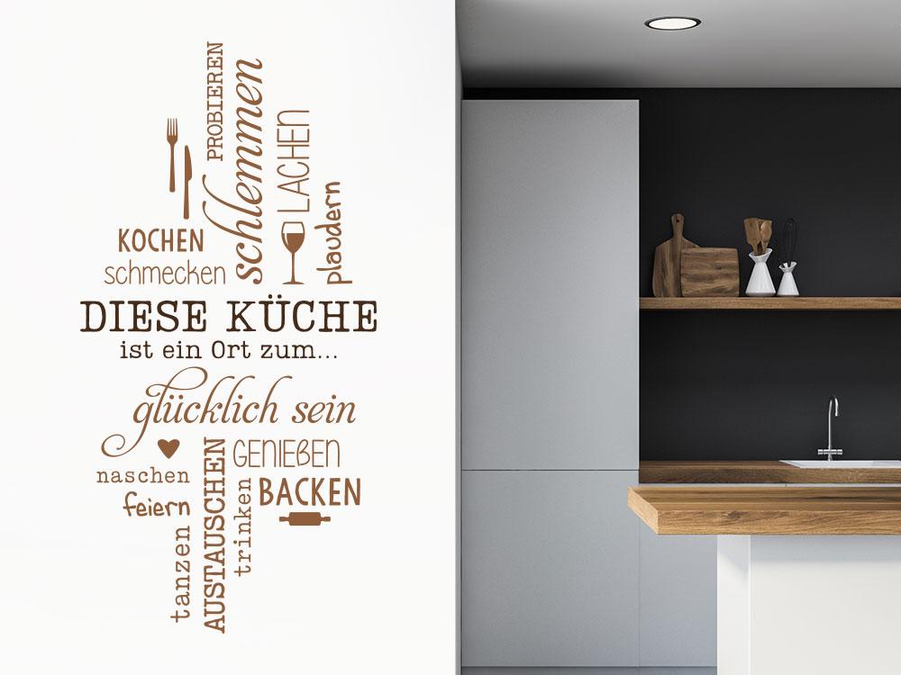 Diese Küche ist ein Ort Wandtattoo in zwei Farben