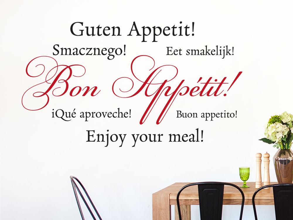 Wandtattoo Bon Appétit zweifarbig