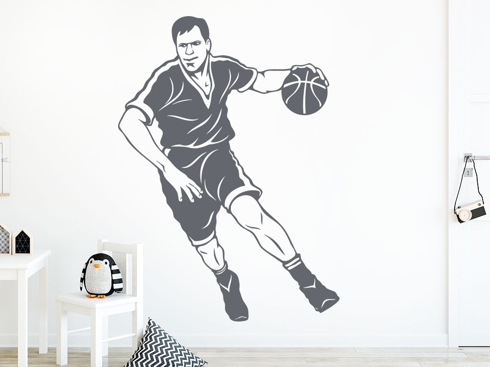 Wandtattoo Basketballer