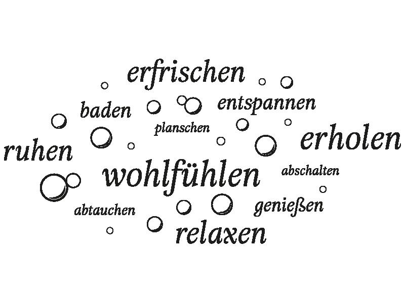Wellness sprüche gutschein  Wandtattoo Wellness Worte - KLEBEHELD®