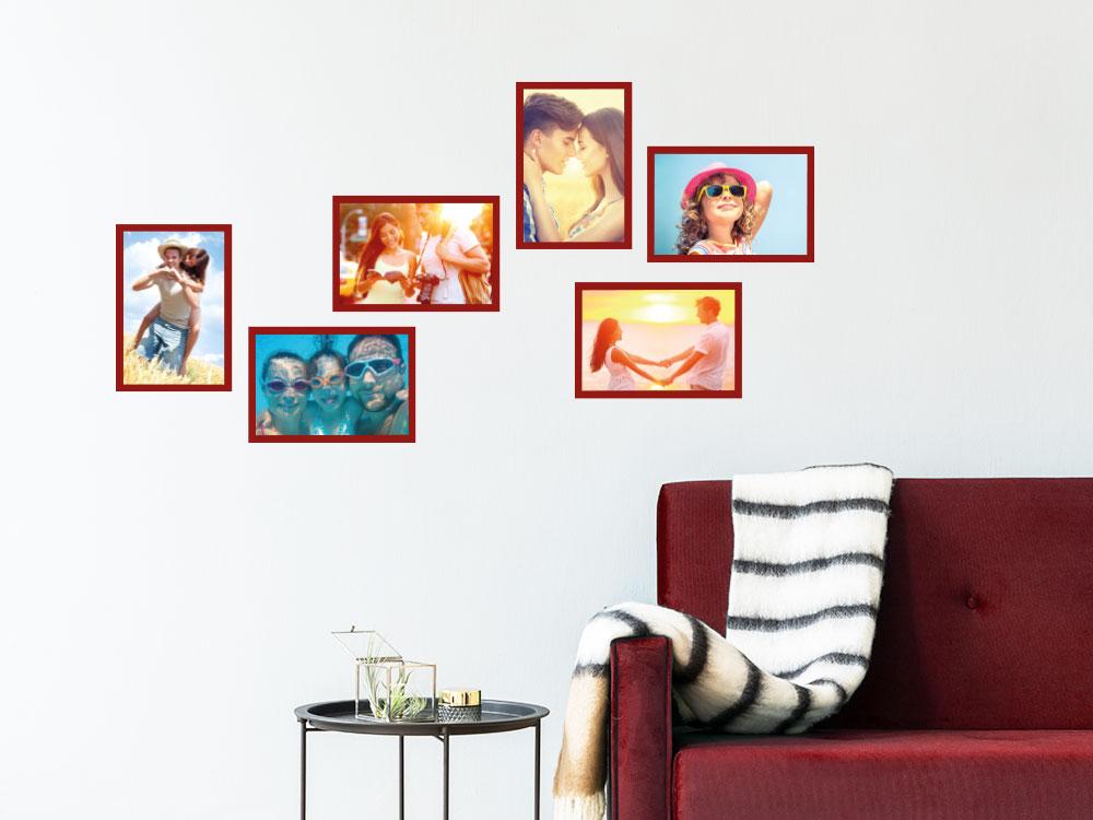 Zusätzliche Fotorahmen für Familienuhr