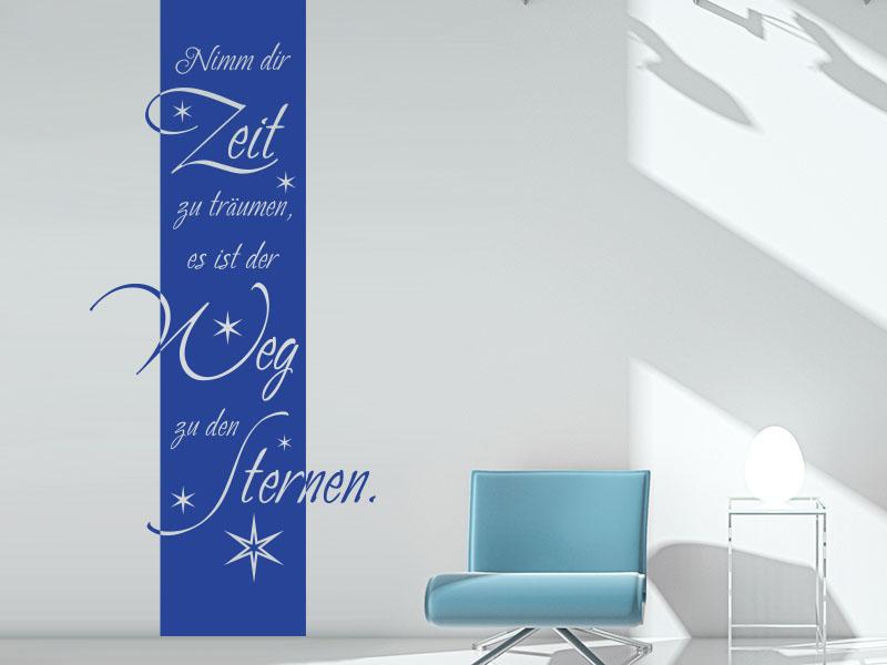 Wandtattoo Wandbanner Nimm dir Zeit zu träumen