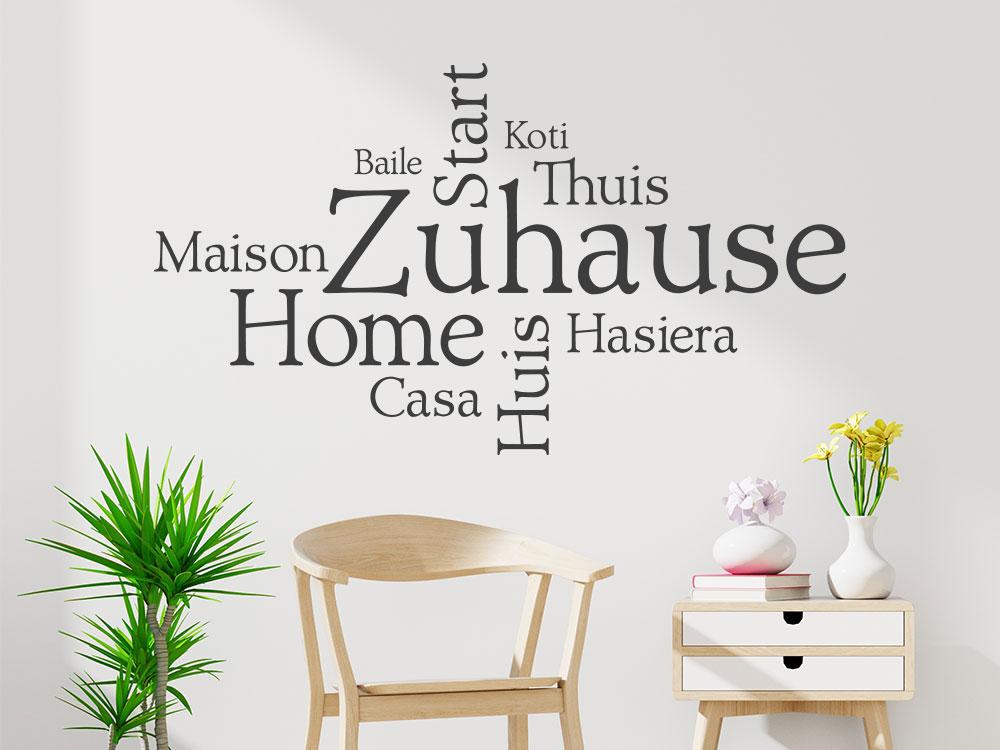 Wandtattoo Zuhause Sprachen