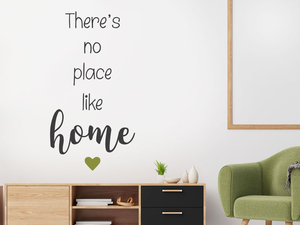 There´s no place like home Wandtattoo im Wohnzimmer